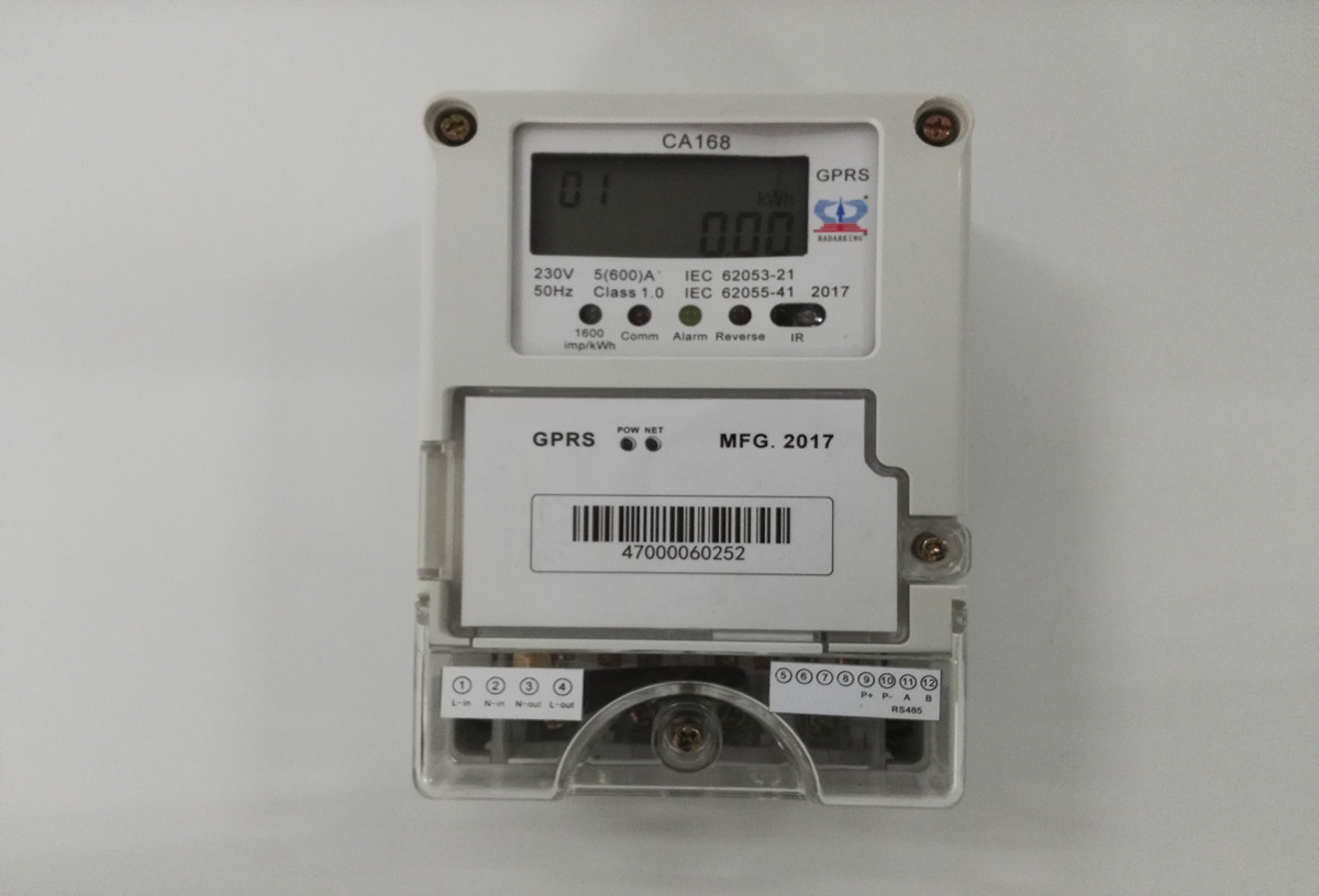 Single Phase Smart Energy Meter with GPRS