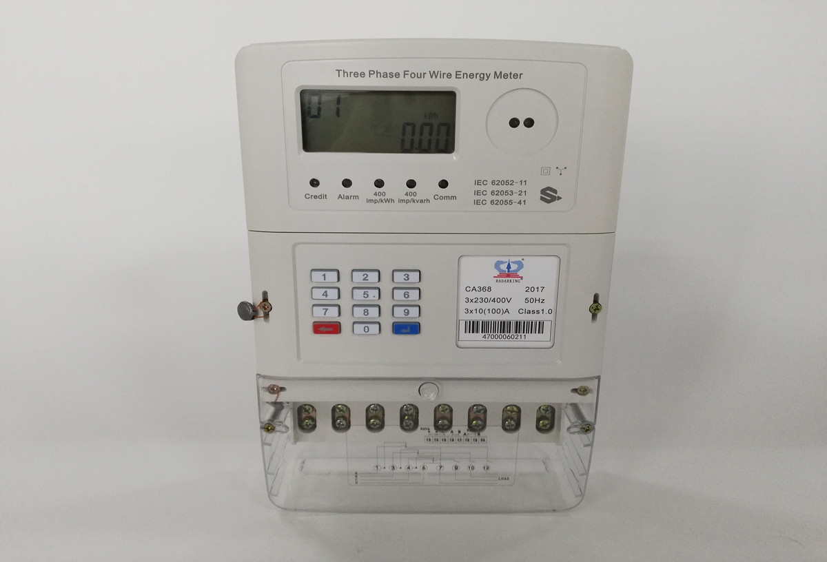 Three Phase STS Keypad Prepaid Electricity Meter